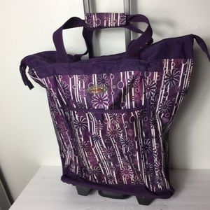Olympia Purple Floral Holdall Travel Wheel Bag